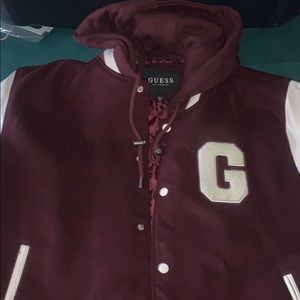 Brand new Guess Varsity removable hooded jacket